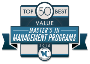 Top 50 Best Value Master's in Management Programs 2015