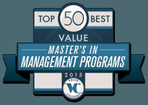 Top 50 Best Value Master's in Management Programs 2015
