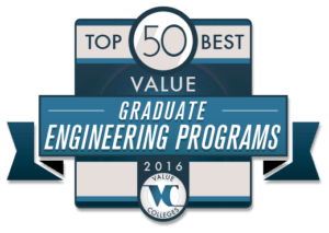 Top 50 Best Value Graduate Engineering Programs of 2016