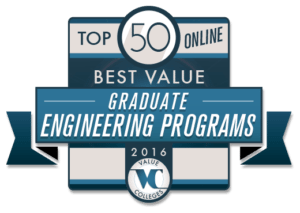Top 50 Best Value Online Graduate Engineering Programs of 2016