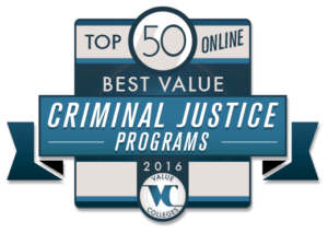 Top 50 Best Value Online Criminal Justice Programs of 2016