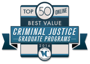 Top 50 Best Value Online Graduate Criminal Justice Programs of 2016