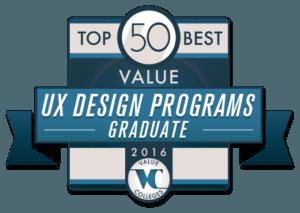 Top 50 Best Value UX Design Graduate Programs of 2016