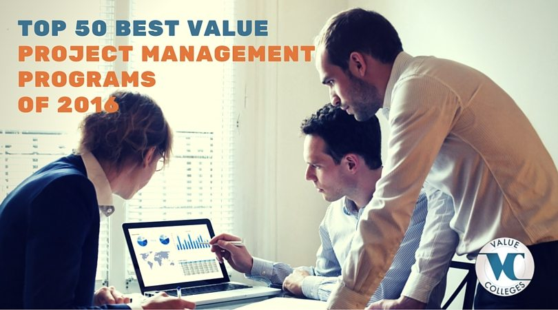 ranking of top 50 best value project management certificate programs