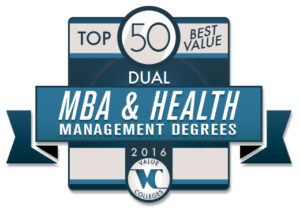 Top 50 Best Value Dual MBA & Health Management Degrees of 2016