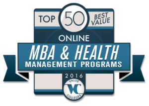 Top 50 Best Value Online MBA & Health Management Programs of 2016