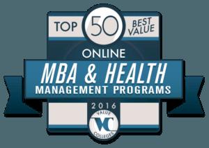 Top 50 Best Value Online MBA & Health Management Programs of 2016