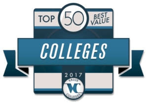 Top 50 Best Value Colleges for 2017