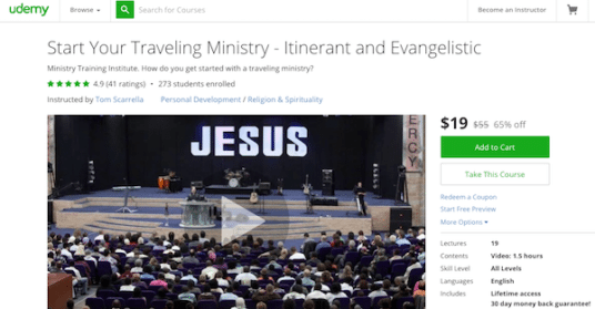Yes, there is a course on UDEMY teaching you how-to start a traveling Jesus Ministry!