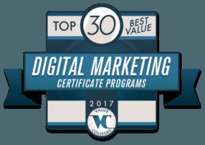 top-30-best-value-digital-marketing-certificate-programs-for-2017