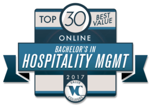 Top 30 Best Value Online Bachelor's in Hospitality Management for 2017