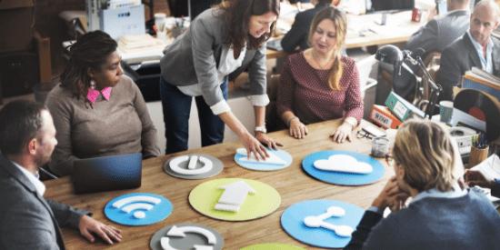 digital marketing office meeting