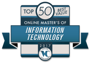 Top 50 Best Value Online Master's of Information Technology Programs for 2017