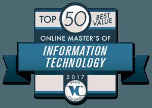 Top 50 Best Value Online Master's of Information Technology