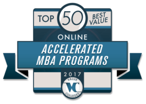Top 50 Best Value Accelerated Online MBA Programs for 2017