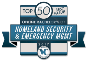 Top 50 Best Value Online Bachelor's of Homeland Security and Emergency Management for 2017