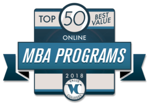Top 50 Best Value Online MBA Programs 2018