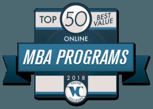 Top 50 Best Value Online MBA Programs 2018