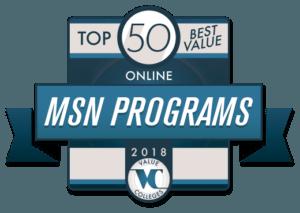 Top 50 Best Value Online MSN Programs 2018