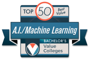 Top 50 Best Value Bachelor's in Artificial Intelligence and