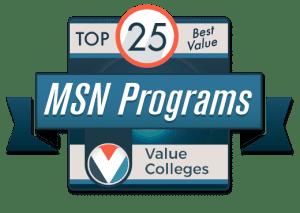 Top 25 Best Value Master's of Science in Nursing Programs